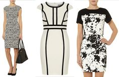 These elegant black & white dresses from Dorothy Perkins (The Bay) would be great additions to your springtime wardrobe!