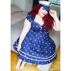 Loved being a sailor girl pin up  in this gorgeous @voodoovixenldn dress for my shoot with Velvet of @volup2  HMU by the lovely @rachelhairmua  #pinup #pinupgirl #plussizepinup  #psblogger #plussizeblogger  #fatshion #fblogger #plussize #plussizefashion #bodypositive #honormycurves #fullfigured #fullfiguredfashion #curvesfordays #curvygirls #curvy #fatshionista #faceyourcurves #effyourbeautystandards #voluptuous #plus_isamust #curvyfashion #fatandfabulous #buzzfeedstyle #stylist #style…
