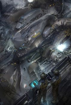 concept ships: Spaceships by Long Ouyang