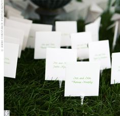 Escort Cards with Golf Tees