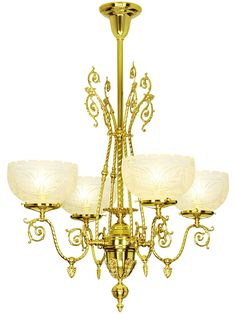 Astoria 4 Light Gas Chandelier is an elegant choice for a dining room with a high ceiling but not overly large.