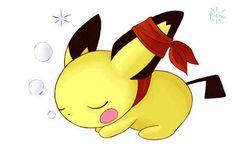 Sleeping Pichu