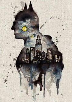 Batman - watercolours ... °°