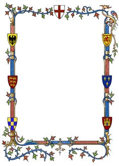 Medieval border with heraldry by dashinvaine