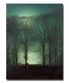 Grimshaw Figure in the Moonlight Replica Wall Art