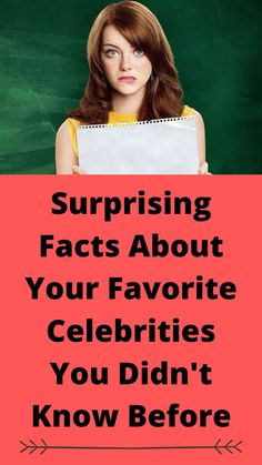 Surprising Facts About Your Favorite Celebrities You Didn't Know Before Women Problems, Your Favorite, My Favorite Things, Ups And Downs, Celebs, Celebrities, Facts, Entertainment, Makeup