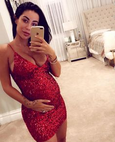 This dress is finally OUT and it has now become my BEST SELLER! So crazy but I knew it! Its the perfect dress for NYE! Comes in 5 amazing… Maternity Clothes First Trimester, Cheap Maternity Clothes, Casual Maternity Outfits, Nye Outfits, Pregnancy Outfits, Maternity Wear, Maternity Fashion, Maternity Style, Pregnancy Photos