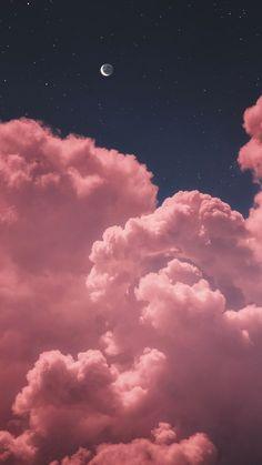 Mond zwei im nächtlichen Himmel whatsapp wallpaper Wallpaper Ideas Iphone Wallpaper Stars, Pink Clouds Wallpaper, Night Sky Wallpaper, Iphone Background Wallpaper, Tumblr Wallpaper, Colorful Wallpaper, Screen Wallpaper, Iphone Backgrounds, Wallpaper Ideas