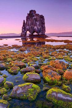 Formación de roca en Islandia