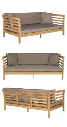 Contemporary and chic, the Outdoor Day Bed will make you think you're at a tropical resort, no plane tickets required! Perched on an acacia wood frame, this cozy bed can also double as seating when you...  Find the Outdoor Day Bed, as seen in the Best of Outdoor Collection at http://dotandbo.com/collections/best-of-outdoor?utm_source=pinterest&utm_medium=organic&db_sku=118175