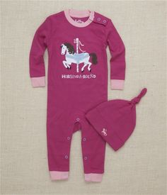 Merry-Go-Round Horses Coverall and Hat Set Horse Gifts, Cute Outfits, Baby Outfits, Baby Leggings, Cute Baby Clothes, Cute Babies, Infant, Spice, Kids