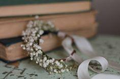 Babys Breath Bridal Bracelet  Real Dried by WoodlandSecrets