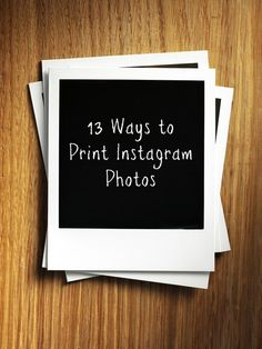 EVEN MORE ways to print Instagram photos!  http://www.geeksugar.com/How-Print-Instagram-Photos-18562772