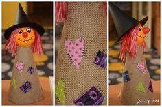 ...letos trošku náročnější než loni  :-)     Pomůcky:  polystyrenové kuličky, acrylová barva, tvrdý papír na kužel, barevný tvrdý papír na... Atelier, Children, Projects, Art Education Resources, Autumn