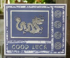 'Dragon' & 'Oriental Alphabet' & 'Oriental Embellishment' - Oriental Dies. Visit tatteredlace.co.uk for available stockists.