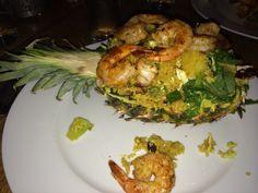 Pineapple rice with shrimp, raisons & cashews