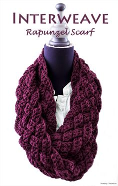Easy Crochet Patterns Free crochet patterns and free video tutorials - Crochet Braided Scarf Free Patterns: Crochet Braided Infinity Scarf Free Pattern, crochet woven scarf cowl Shawl Crochet, Knit Or Crochet, Crochet Scarves, Crochet Clothes, Irish Crochet, Interweave Crochet, How To Crochet A Scarf, Double Crochet, Things To Crochet