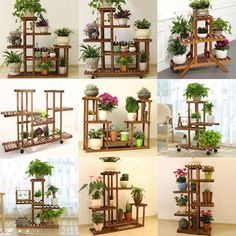 Details about Wooden Plant Stand Indoor Outdoor Patio Garden Planter Flower Pot Stand Shelf Plant Wooden Display Shelf. Water proof, indoor or outdoor, Multiple shelves, Multiple use. Made from solid wood, very firm an Wooden Plant Stands Indoor, Wood Plant Stand, Plant Shelves Outdoor, Flower Planters, Garden Planters, Flower Pots, Potted Flowers, Balcony Garden, Balcony Plants