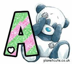 My blue nose friends Alphabet Letters Design, Cute Alphabet, Alphabet Charts, Alphabet And Numbers, Friends Image, Cute Friends, Tatty Teddy, Alfabeto Animal, Teddy Bear Pictures