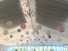 Wedding Marquee Decor Paper Lanterns 40 cream, lace, soft pink, sage green Marquee Wedding, Paper Lanterns, Big Day, Sage, Photo And Video, Cream, Flowers, Pink, Instagram