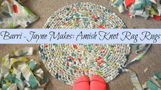 How to make a toothbrush (Amish knot) rag rug - tutorial