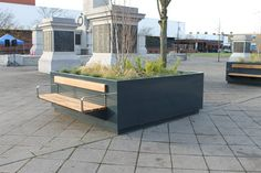 Victory Square Hartlepool - Branthwaite Planter with seating