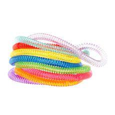 Kids Thin Rainbow Colored Coil Bracelets Set