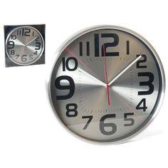 #reloj de metal tipo clasico, tiene numero muy visible para quien quiere sabaer la hora con simple vista.para mas informacion en nuestra web www.catayhome.es