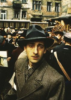 Adrien Brody in The Pianist One of the Greatest movies ever!! He won the Oscar