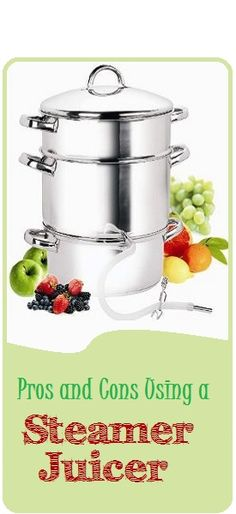 Pros and Cons of a Steamer Juicer #juicing