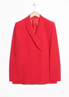 & Other Stories | #andotherstories #suit #red #blazer