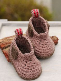 Construction Boot Baby Boys Crochet Boot Pattern by Inventorium