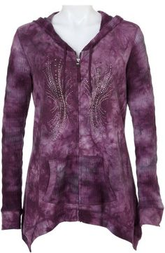 B.L.E.U. Embellished Hoodie Jacket GRAY Small....