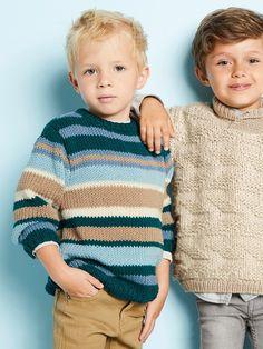 THIBAULT genser i Phil Merinos 6. Garnpakke 2-10 år fra Phildar. Sarees, Turtle Neck, Sweaters, Fashion, Threading, Moda, Saris, La Mode, Sweater