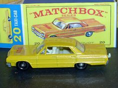 Matchbox  Lesney Chevrolet Impala Taxi Cab 20 C3 Cream Decal VNM  & Crafted Box - http://www.matchbox-lesney.com/?p=19709