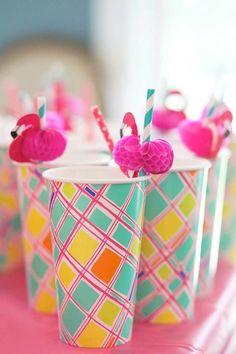 Flamingo Cake, Flamingo Birthday, Flamingo Party, Pink Flamingos, Birthday Bash, First Birthday Parties, First Birthdays, Luau Party, Beach Party