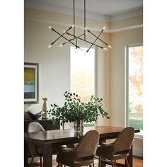 Dining Chandelier, Dining Room Light Fixtures, Dining Lighting, Linear Chandelier, Modern Light Fixtures, Cabin Chandelier, Rectangular Chandelier, Linear Lighting, Modern Lighting