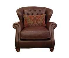 Franklin Leather Wing Chair from Alexander & James | Mia Stanza