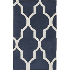 Volare Rectangle: 5 Ft. X 8 Ft. Navy Rug Rizzy Rugs Area Rugs Rugs Home Decor