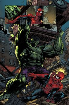 #Hulk #Fan #Art. (Hulk vs Spidey) By: RexLokus. [THANK U 4 PINNING!!]