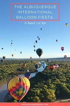 The Albuquerque International Balloon Fiesta is a bucket list item. Find out how to go on a hot air balloon ride during mass ascension with hundreds of other balloons. Learn how to get tickets to New Mexico's biggest event. Don't visit the Albuquerque Balloon Fiesta without reading this post. Save to your travel board for inspiration.