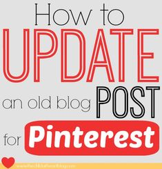 Update an old blog post and use your existing content to create something new and pinnable. In a few easy steps you can optimize that post for Pinterest. You