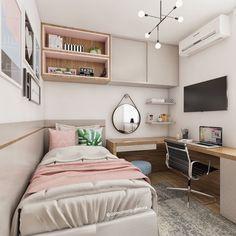 ★ Tiny Bedroom Decor For Tiny Houses Room Design Bedroom, Tiny Bedroom Design, Bedroom Decor, Small Room Bedroom, Bedroom Interior, Dorm Room Decor, Home Bedroom, Room Inspiration Bedroom, Cozy Room Decor