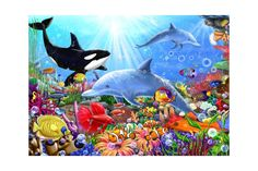 Puzzle Bluebird - Bright Undersea World, 1500 piese Undersea World, Blue Bird, Sonic The Hedgehog, Puzzle, Batman, Coral, Bright, Superhero, Cabinet