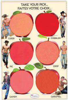applepalette_cheek color. I honestly didn't even notice the shirtless cowboys when I pinned this! Guess I love these colors!