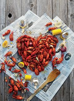 This Southern Crayfish party might not be very Swedish, but it still looks delicious. (Photograph by Jody Horton) Crawfish Party, Crawfish Season, Creole Recipes, Cajun Recipes, Crawfish Recipes, Yummy Recipes, Good Food, Yummy Food, Seafood Boil