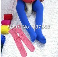 2013 le printemps et automne les enfants ouvert couleur de sucrerie de velours collants infantile fichiers ouverts collants bébé pantalons fendus