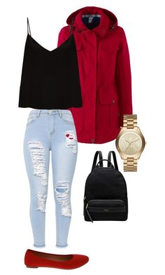 """""""The perfect outfit for cold climate!"""" by jenimarrivera on Polyvore featuring Lands' End, Raey, ANGELINA, Michael Kors, Radley and plus size clothing"""