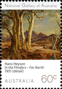 Stamp: Hans Heysen (Australia) (National Gallery of Australia) Mi:AU Australian Painters, Australian Artists, Australian Plants, Envelope Art, Small Words, Lost Art, South Australia, Stamp Collecting, My Stamp
