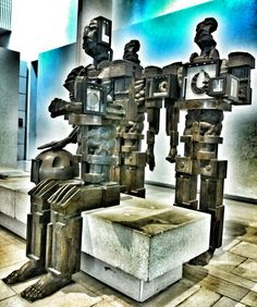 Eduardo Paolozzi sculptures, Museum of Scotland, Edinburgh. from a good edinburgh boy..
